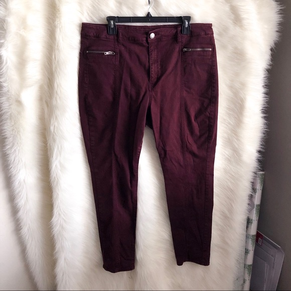 American Eagle Outfitters Denim - 🆕 American Eagle Outfitter Maroon Hi Rise Jegging